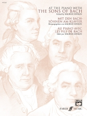 At he piano with the sons of Bach image