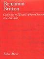 Cadenzas to Mozarts Piano Concerto in Eb Major K482